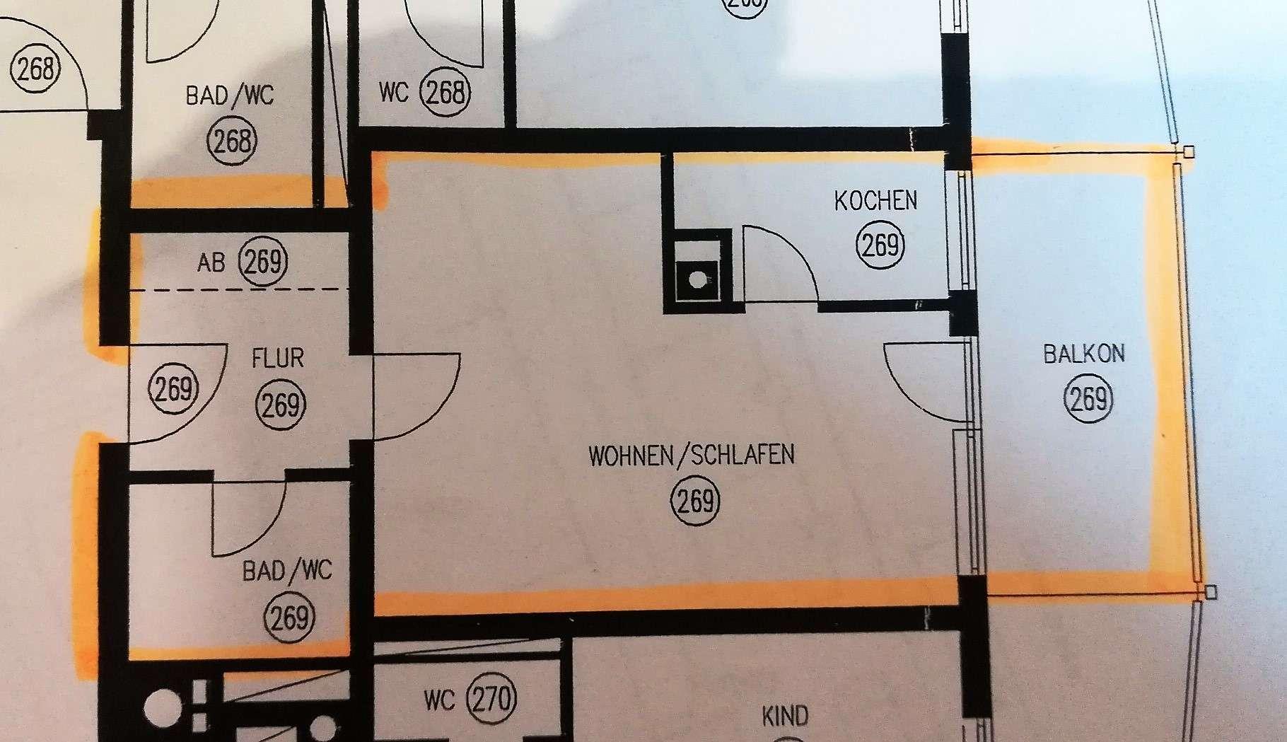 Erstbezug nach Sanierung: exklusive 1-Zimmer-Wohnung mit Balkon in Germering