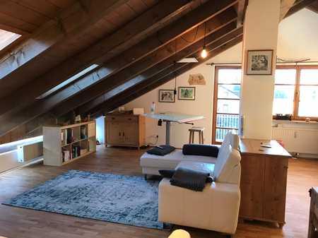 2-Zimmer-Dach-Atelierwohnung im 2.OG mit West-Balkon in Waldperlach, München in Perlach (München)