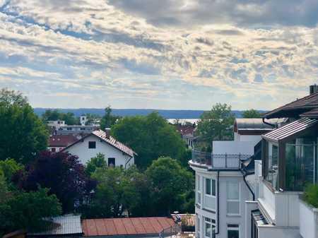 HOCH OBEN! Bezaubernde, gemütliche 4-Zi.-Dachterrassen-Whg. im Herzen von Herrsching in Herrsching am Ammersee (Starnberg)