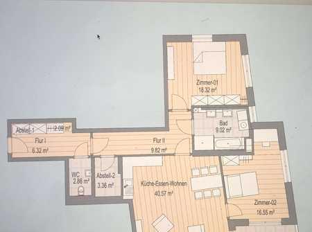 Beethovenviertel Exklusiver Neubau 3-Zimmer-Wohnung in Augsburg-Innenstadt
