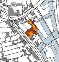 Abgeschlossene Wohnbebauung mit Dreiseitenhof-Charakter