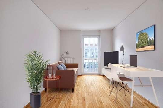 Quartier am Leinebogen: Attraktive 4-Zimmer Wohnung mit Loggia in Innenstadtlage