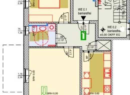 Erstbezug  moderne 2 R Wohnung ca 58 m² Wfl. mit Terrasse, voraussichtlich ab 01.08.2019
