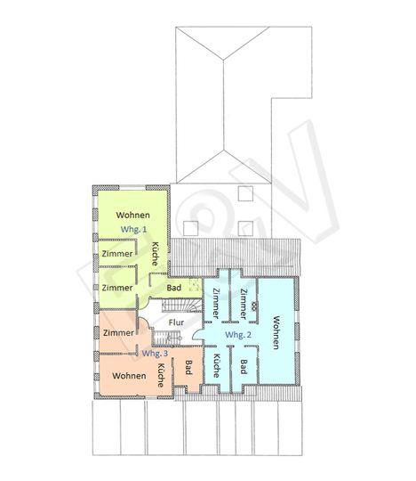 Grundriss OG - Wohnungen