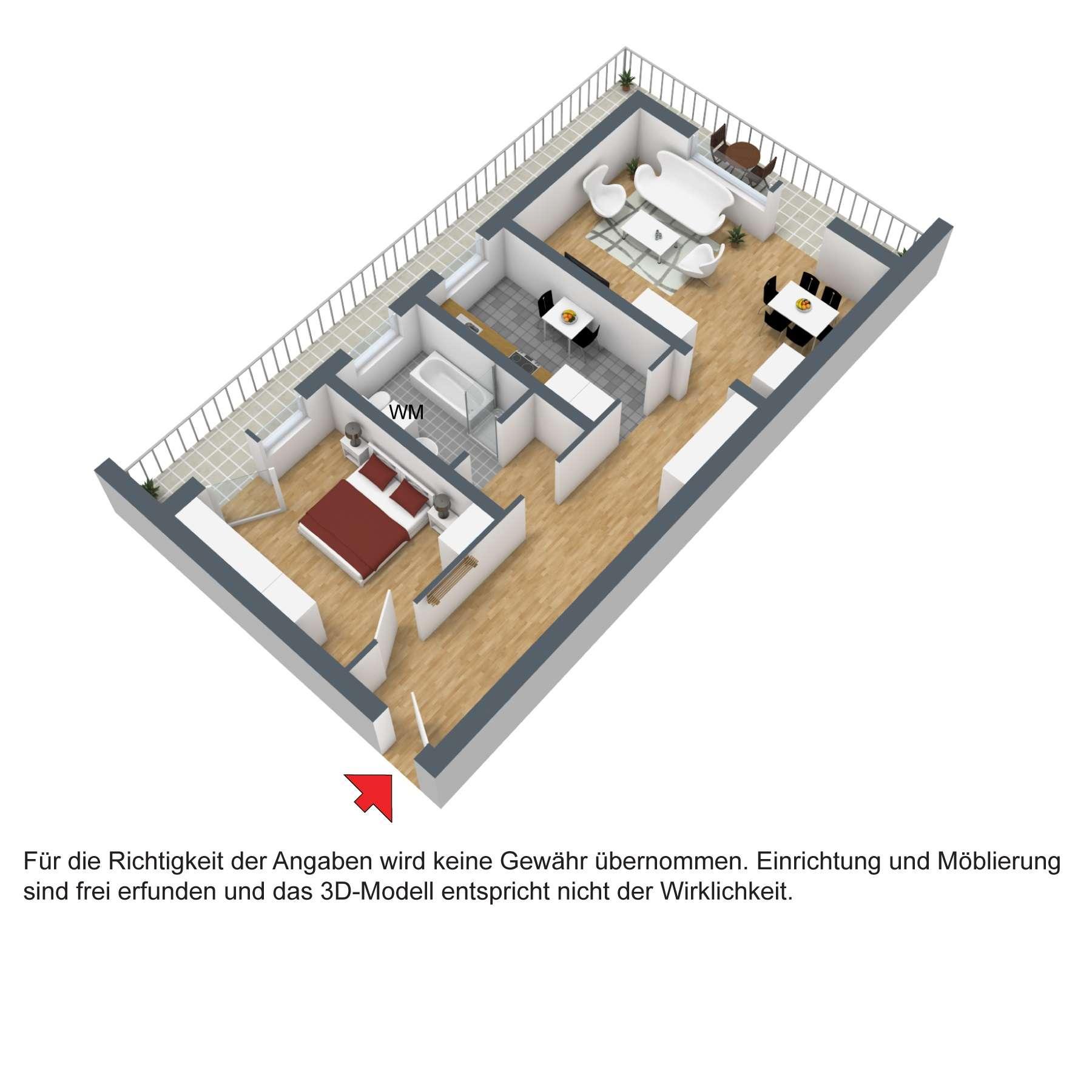 Geräumige 2-Zimmer-Wohnung in Deggendorf in