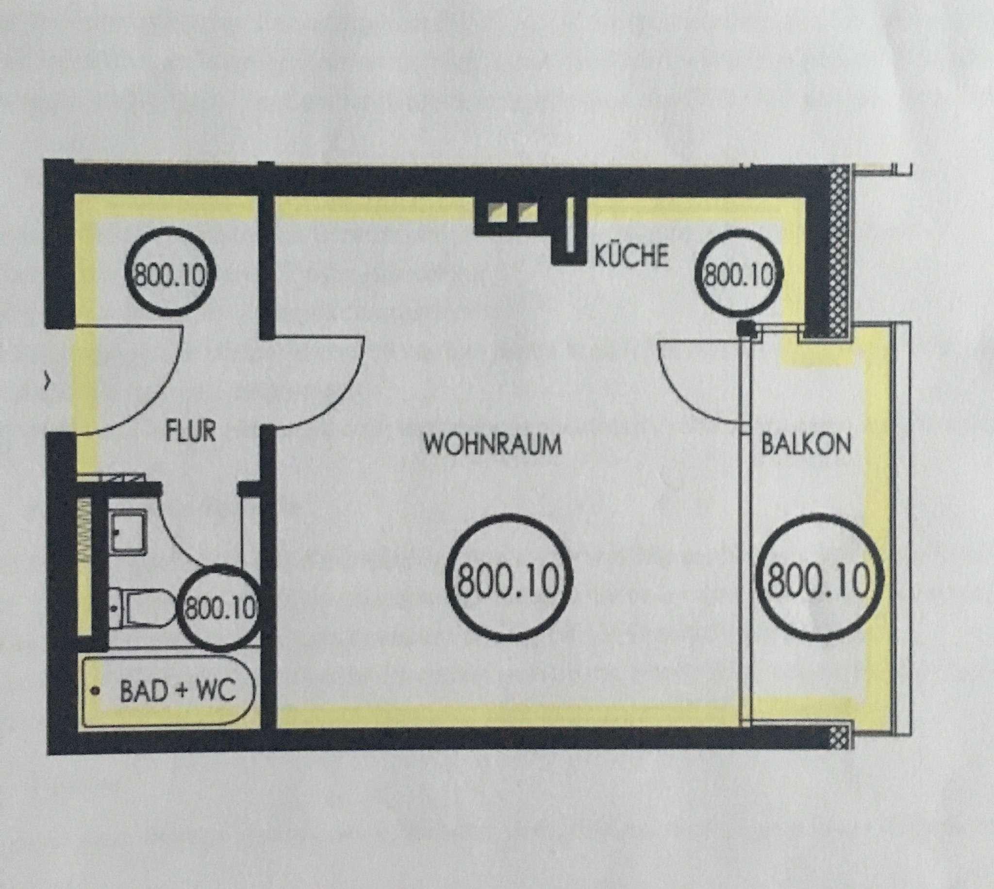Sanierte,voll möblierte 1-Zimmer-EG-Wohnung mit Balkon, inkl. TG und EBK!