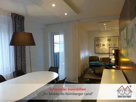 All inclusive Wohnen! Exklusiv möbliertes 3-Zimmer-Balkon-Apartment im Naherholungsgebiet Happurg in Happurg