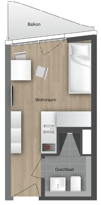 ERSTBEZUG! Möblierte Apartments, perfekt geeignet als Mitarbeiterunterkünfte!