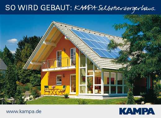 Schönes KAMPA-Haus auf 600 m² Grundstück: hier ist der Wintergarten gleich integriert!