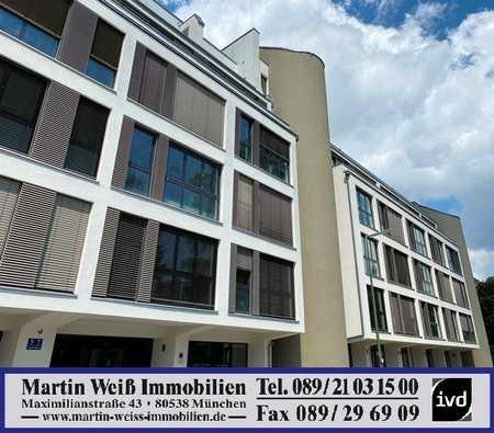 Modern, loftartig, absolut ruhig: 1-Zimmer-Wohnung mit großem West-Balkon in Bogenhausen in Bogenhausen (München)