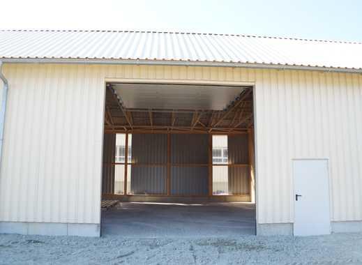 Lagerhalle 123 qm, neu, 4,32 m Innenhöhe mit großem 4x4 m Einfahrtstor