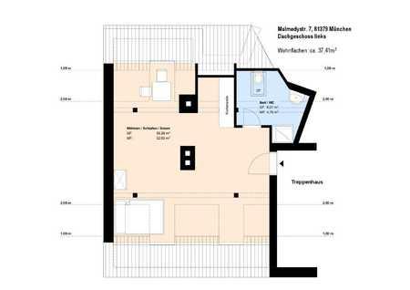 *U3-Nähe*1 Zimmer DG-Wohnung*möbliert*mit EBK*Duschbad mit Fenster*Keller* in Obersendling (München)
