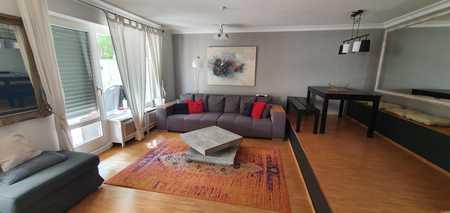 Modernisierte möblierte 3-Zimmer-Hochparterre-Wohnung mit Balkon und EBK in Schwabing, München in Schwabing (München)