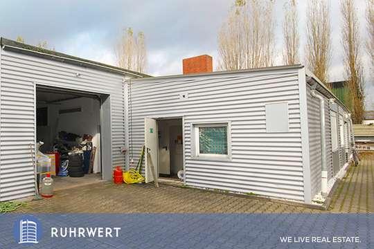 Aussenansicht von Funktionale Halleneinheit mit Büro in zentraler Lage von Hamm!