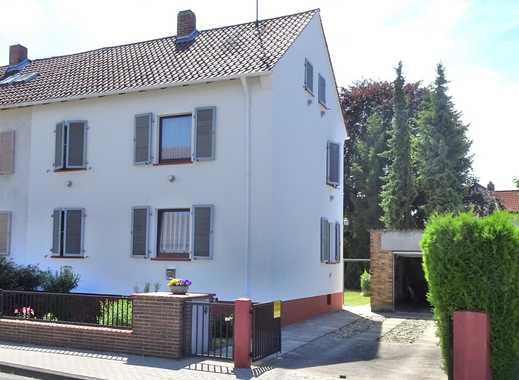 Nur 3 Minuten zum Pfrimmpark: freie Zweifamilien-Doppelhaushälfte - Garten - Garage - Hochheim!