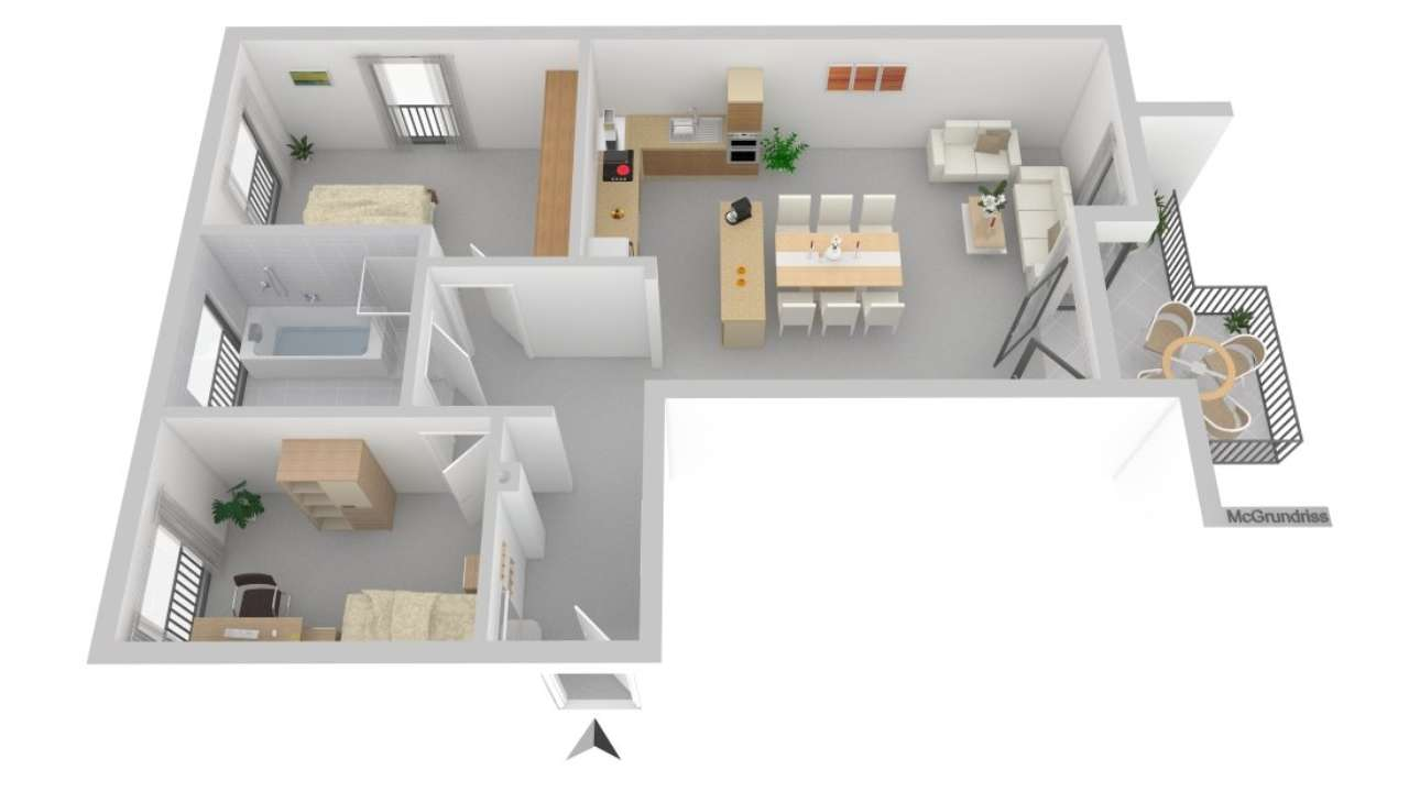 Schöne, geräumige drei Zimmer Wohnung in Augsburg (Kreis), Bobingen