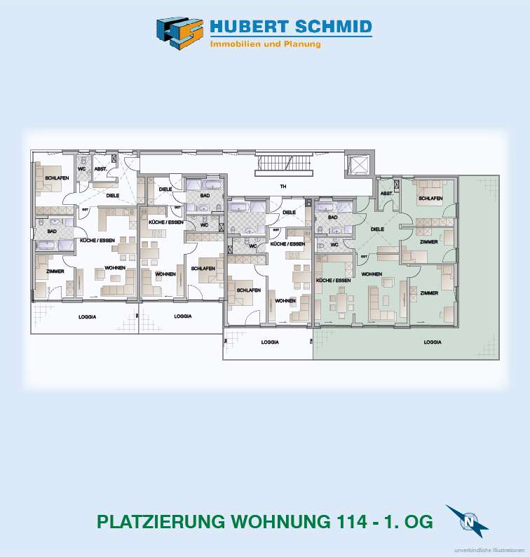 Platzierung Whg. 114