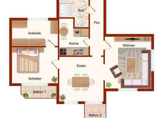 **Modernisierte Altbauwohnung mit 2 Balkonen**