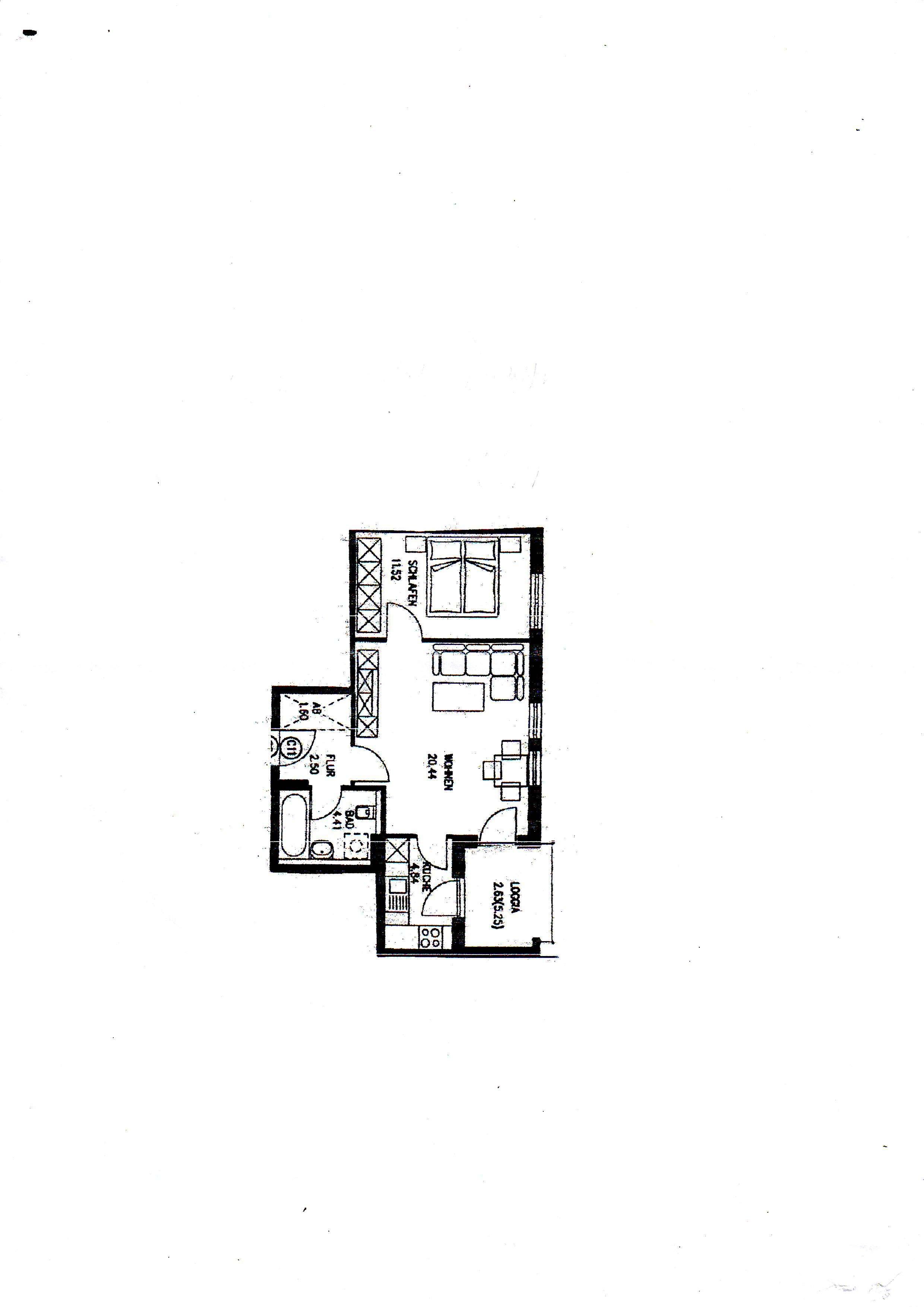 Gepflegte 2-Zimmer-Wohnung mit Balkon und Einbauküche in Gersthofen in Gersthofen