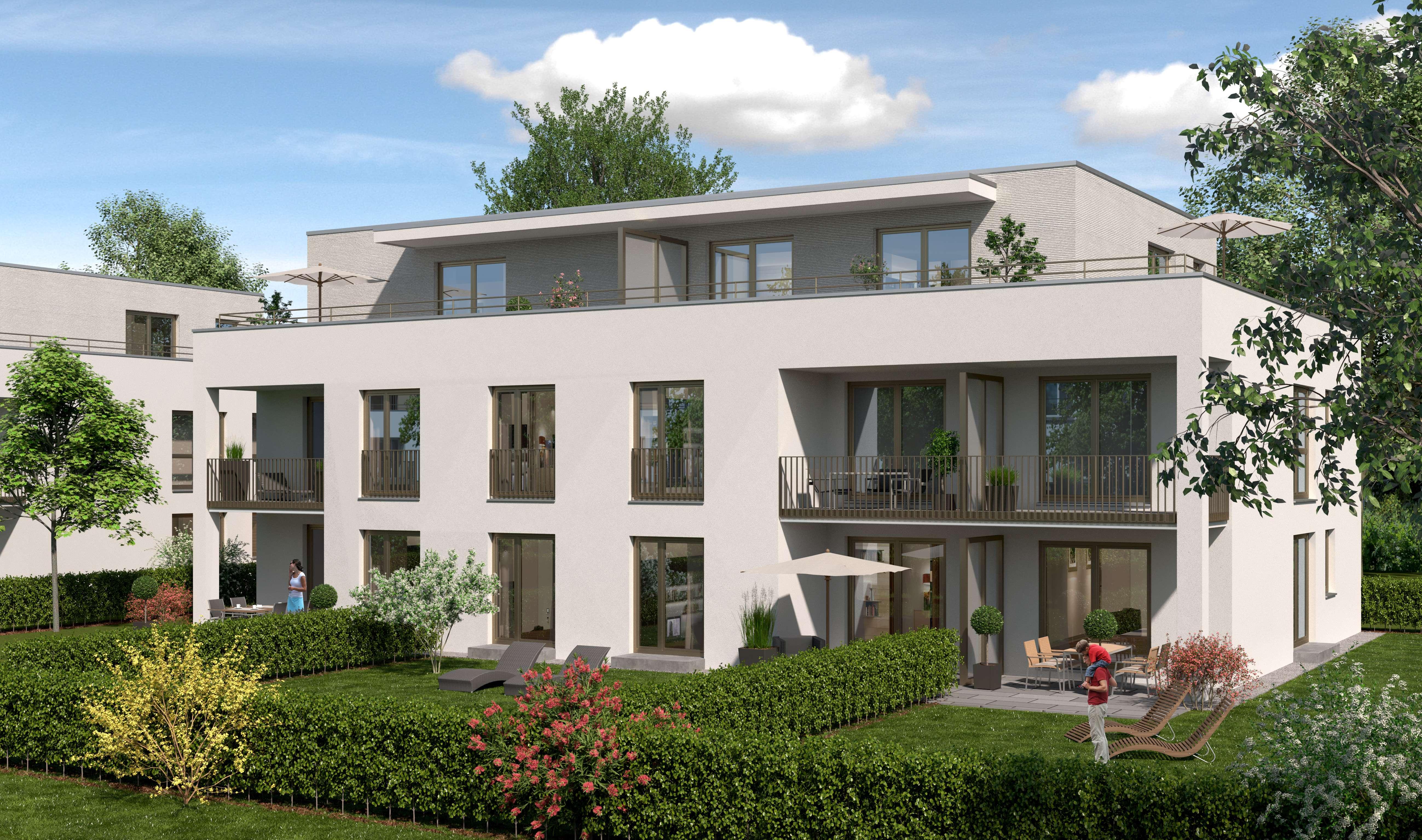 Erstbezug: stilvolle 2-Zimmer-Penthouse-Wohnung mit Dachterrasse in Moosburg in Moosburg an der Isar