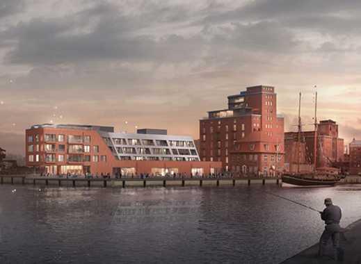 Großes 3-Zimmer-Appartment mit wunderschöner 20m² Süd-Terrasse an der Wismarer Hafenspitze