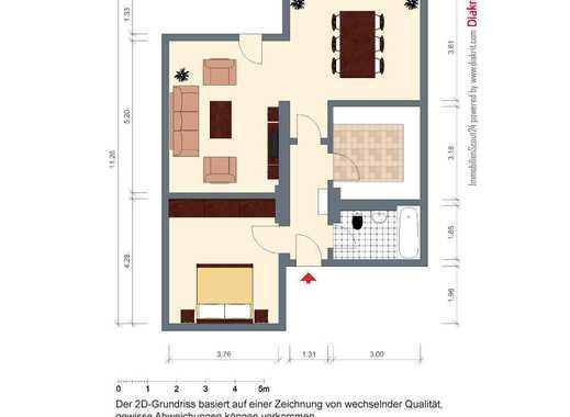 2,5 Zimmerwohnung (möbliert) mit Garten in Köln Dellbrück