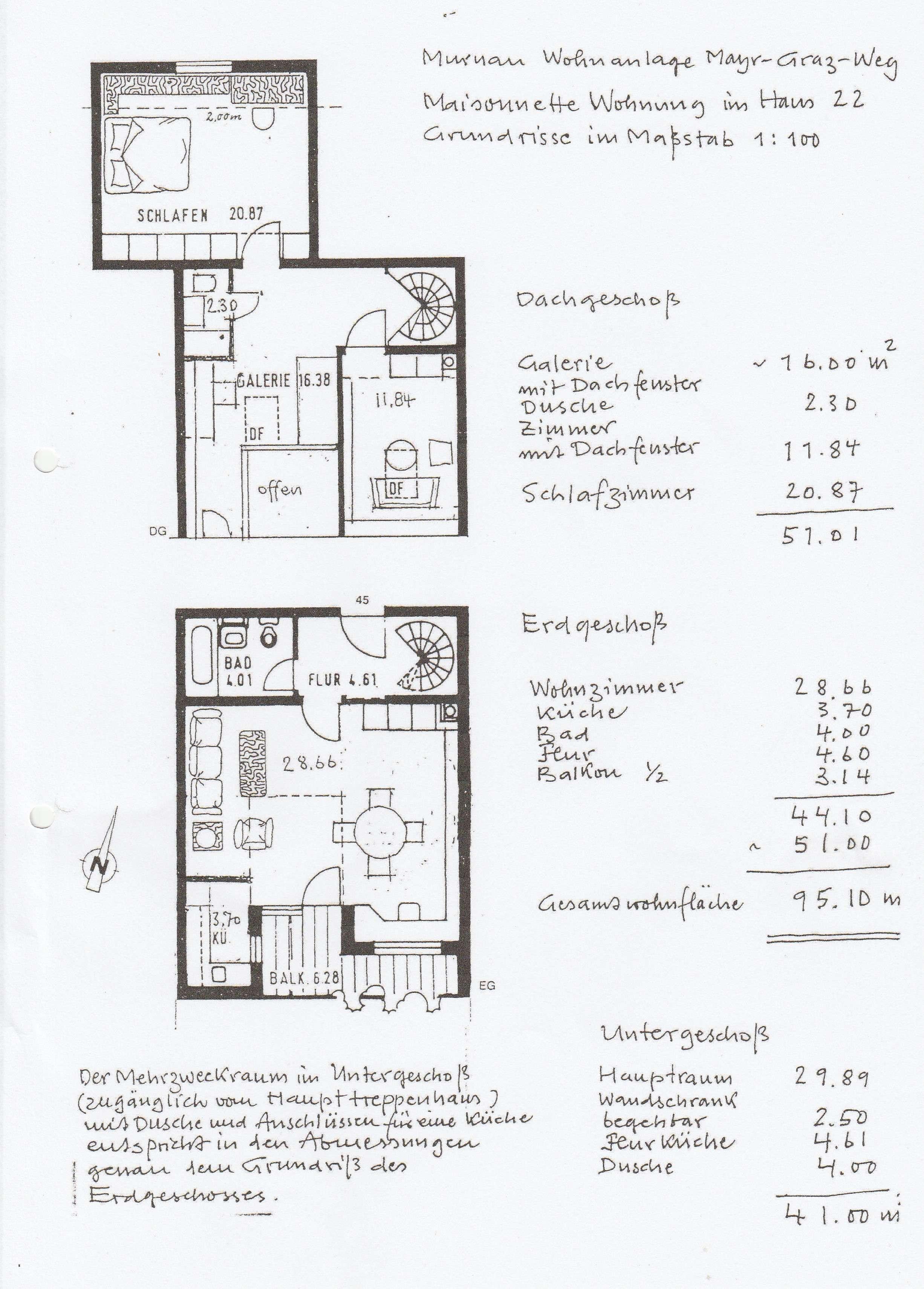 Erstbezug nach Sanierung: attraktive 3-Zimmer-Maisonette-Wohnung mit großem, belichtetem Hobbyraum in Murnau am Staffelsee