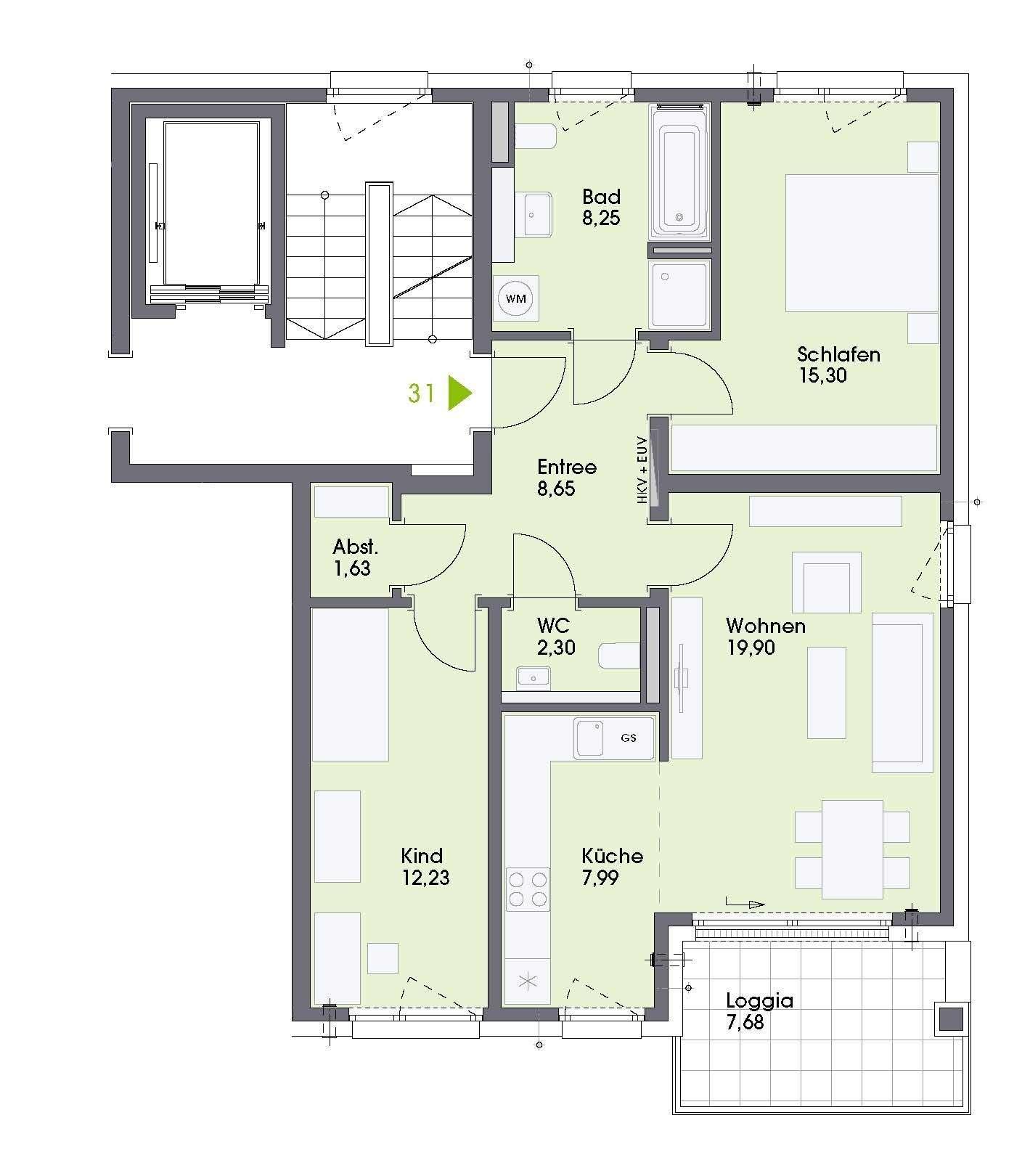 Erstbezug! Prima 3-Zimmer-Wohnung mit Loggia in Neumarkt in Neumarkt in der Oberpfalz (Neumarkt in der Oberpfalz)