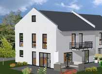 Moderne Doppelhaushälfte und Grundstück schlüsselfertig
