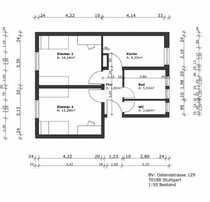 Stilvolle sanierte 2-Zimmer-Wohnung mit Einbauküche in