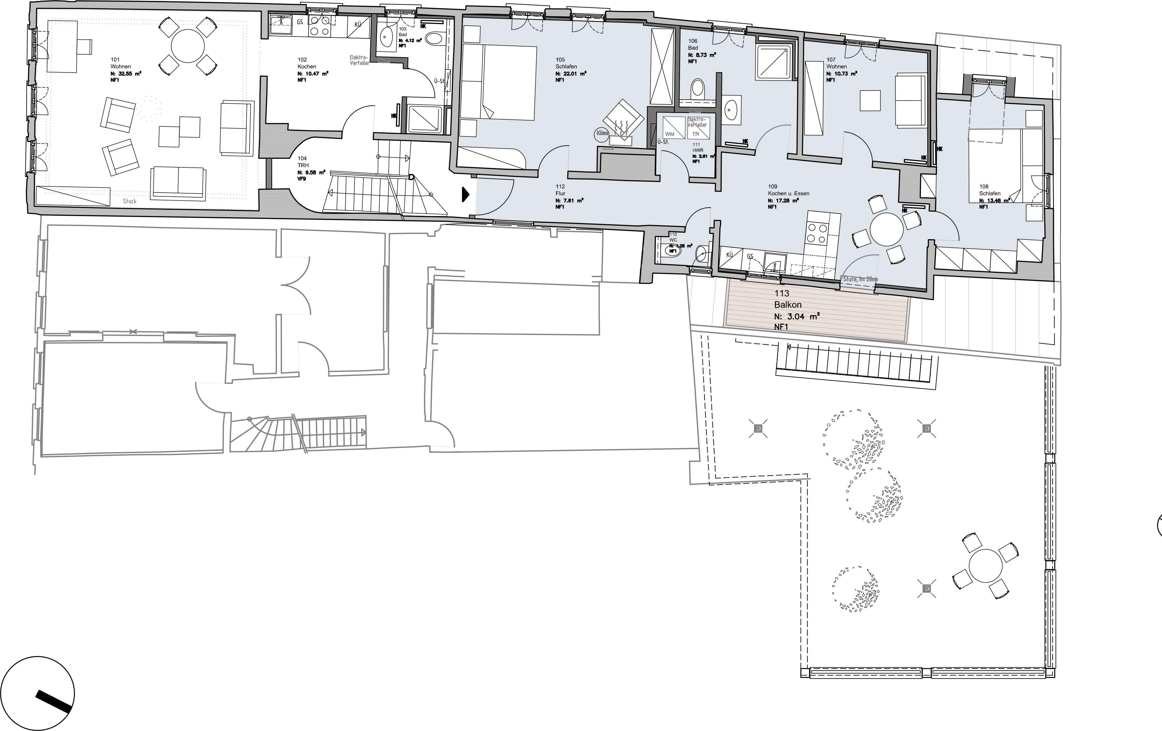 Erstbezug nach Sanierung: ansprechende 4-Zimmer-Wohnung mit Balkon in Miltenberg in Miltenberg
