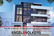 Abrißgrundstück mit Baugenehmigung und Planung