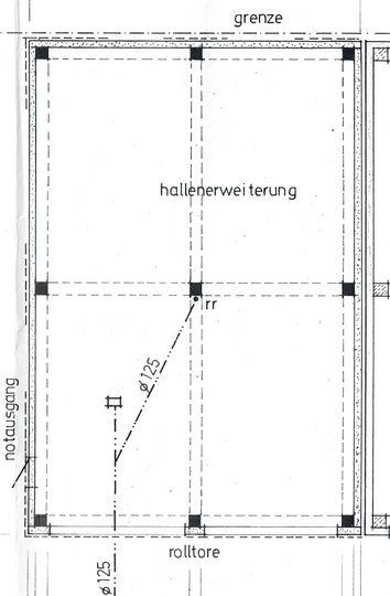 Grundriss Halle