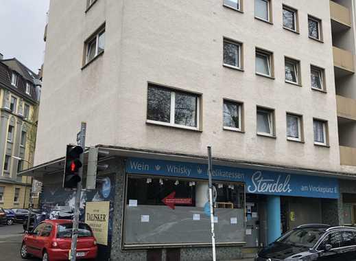 KREUZVIERTEL-Vinkeplatz-Ladenlokal mit Schaufenstern, Keller und WC Einheit