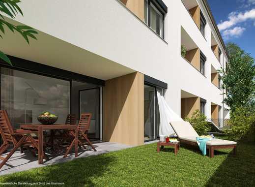Helle 2 Zi.-Whg. mit 20 m² eigenem Garten und Süd-Terrasse - NEUBAU