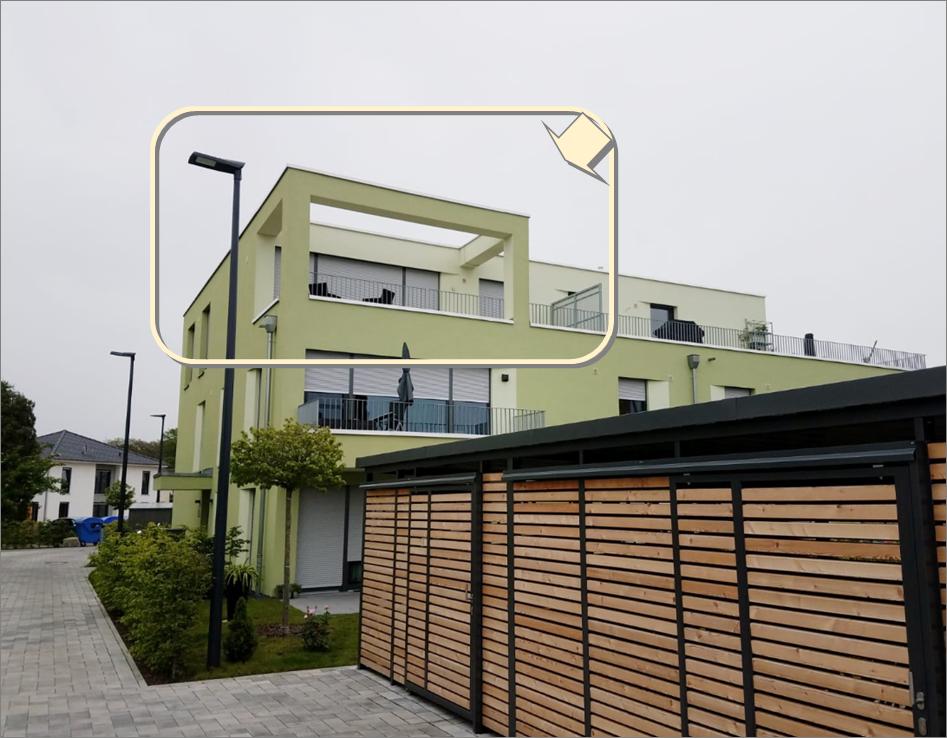 Wunderschöne Penthousewohnung mit großer Dachterrasse (inkl. 2 Stellplätze) in Kahl am Main