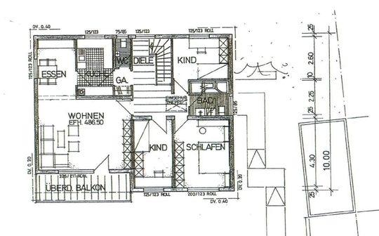 Grundriss EG - 4 Zimmerwohnung