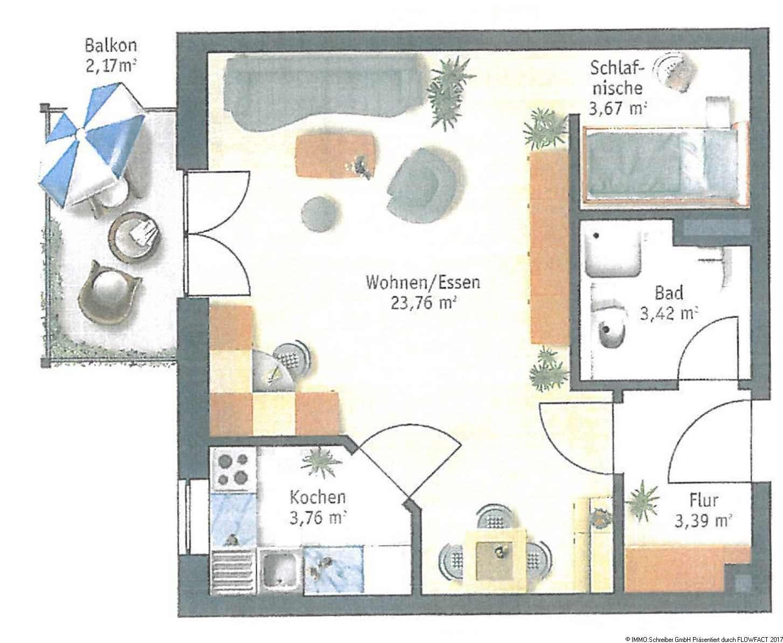 Einzimmer- Appartement - Nähe Bahnhof in