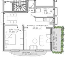 Moderne 2-Zimmer Wohnung auch als