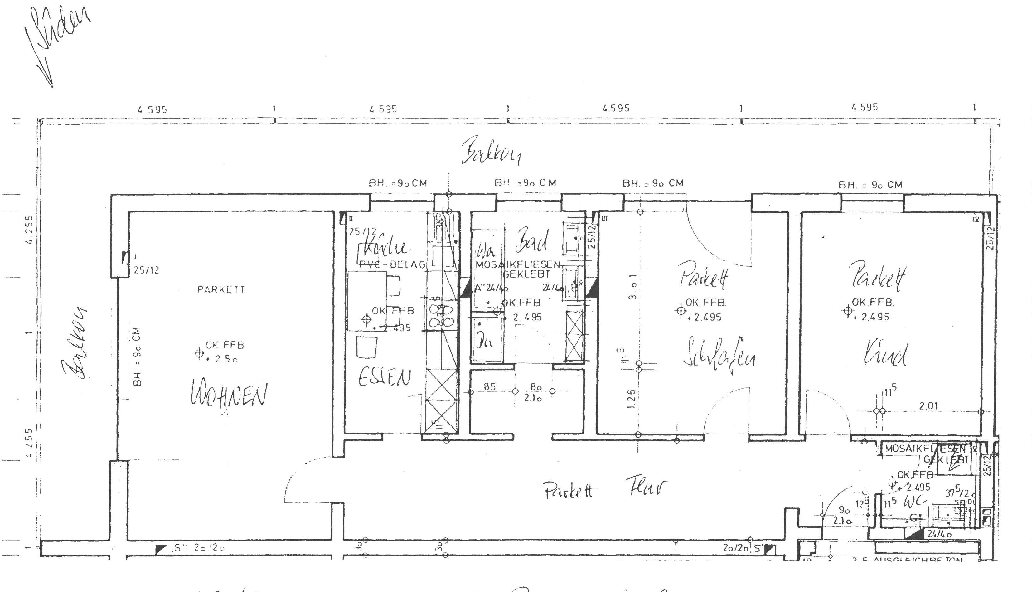 Modernisierte 3-Zimmer-Wohnung mit Balkon in Deggendorf in Deggendorf