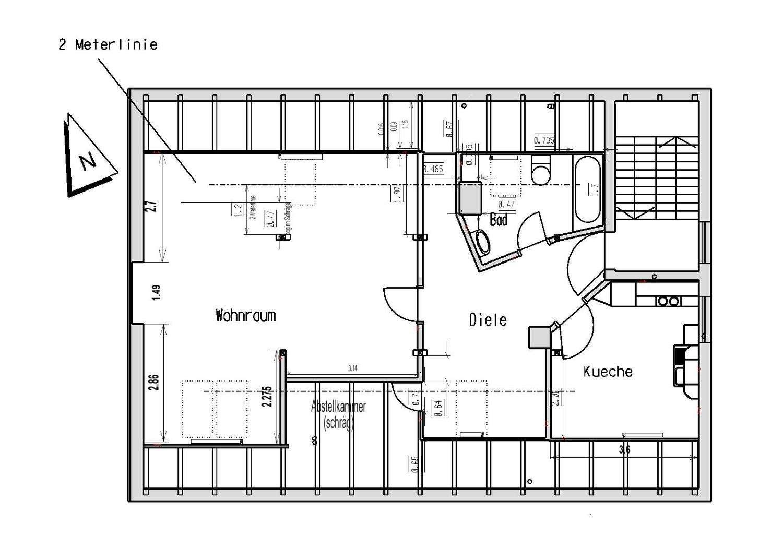 DG - großzügig geschnittene Dachwohnung