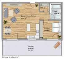 Großzügige zwei-Zimmer Erdgeschosswohnung mit eigenem
