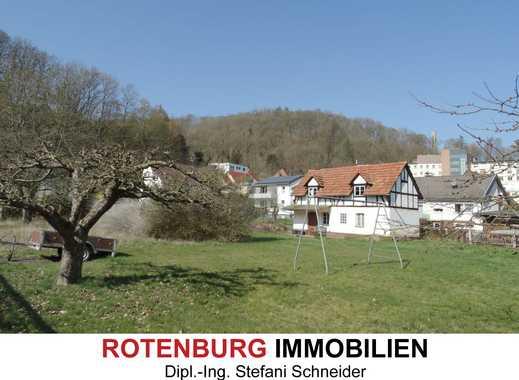 Sehr zentral aber ruhig gelegenes, ebenes Grundstück in Rotenburg