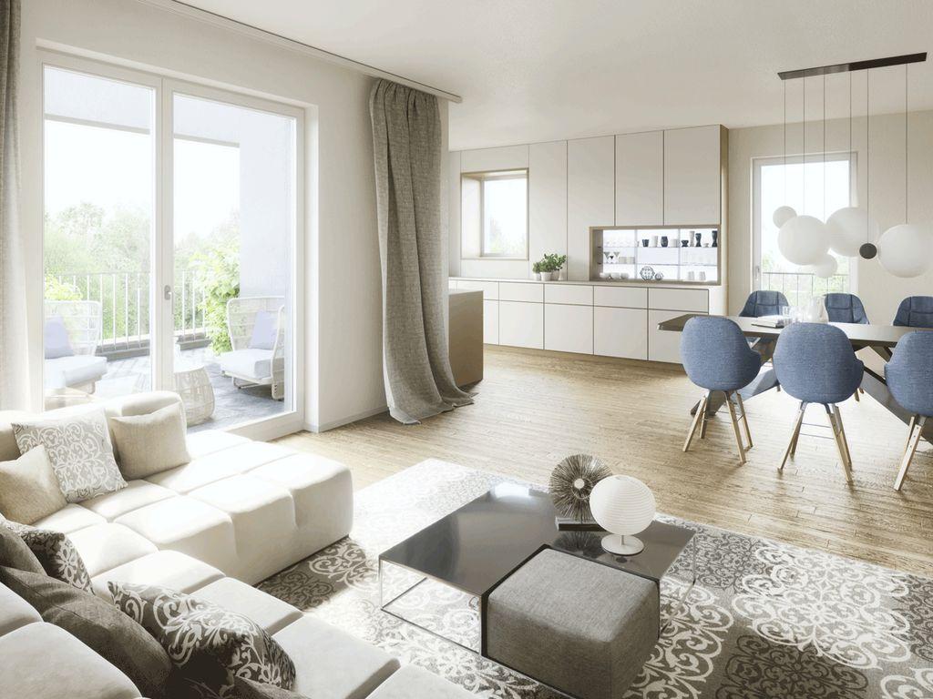 4-Zimmer-Komfortwohnung mit sonnigem West-Balkon, 41 m² großem Wohn ...