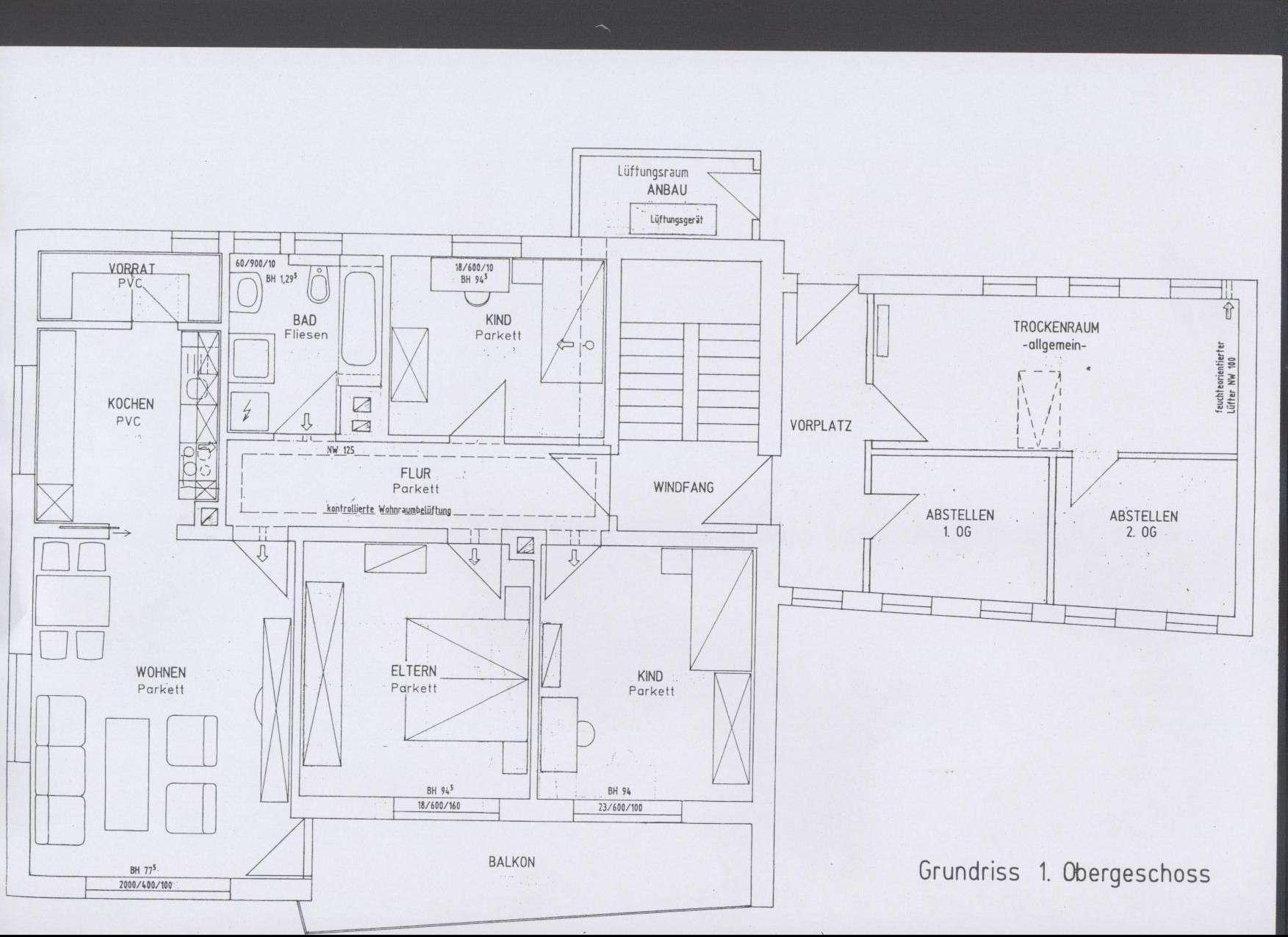 Sonnige 4-Zimmer-Wohnung mit Balkon und EBK in Metten