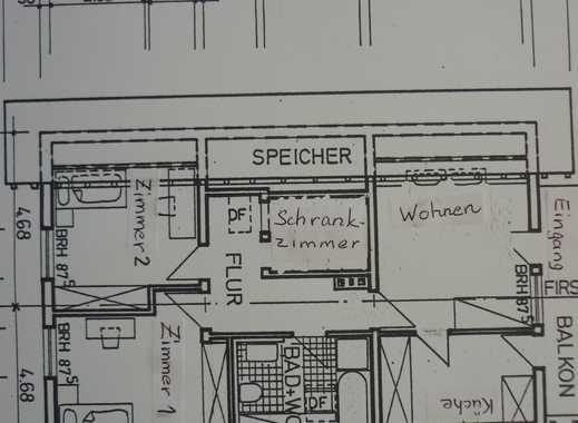 Freundliche 3,5-Zimmer-DG-Wohnung mit Balkon und Einbauküche in Offenheim