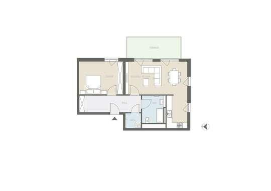 EG mit Garten: Tolle 2-Zimmer Wohnung inkl. Tiefgaragenstellplatz