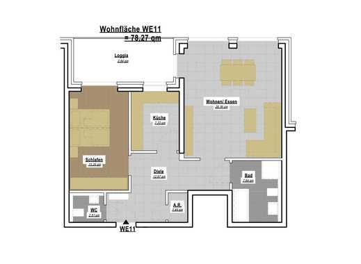 Wohnkomfort auf 2,5 Räumen!