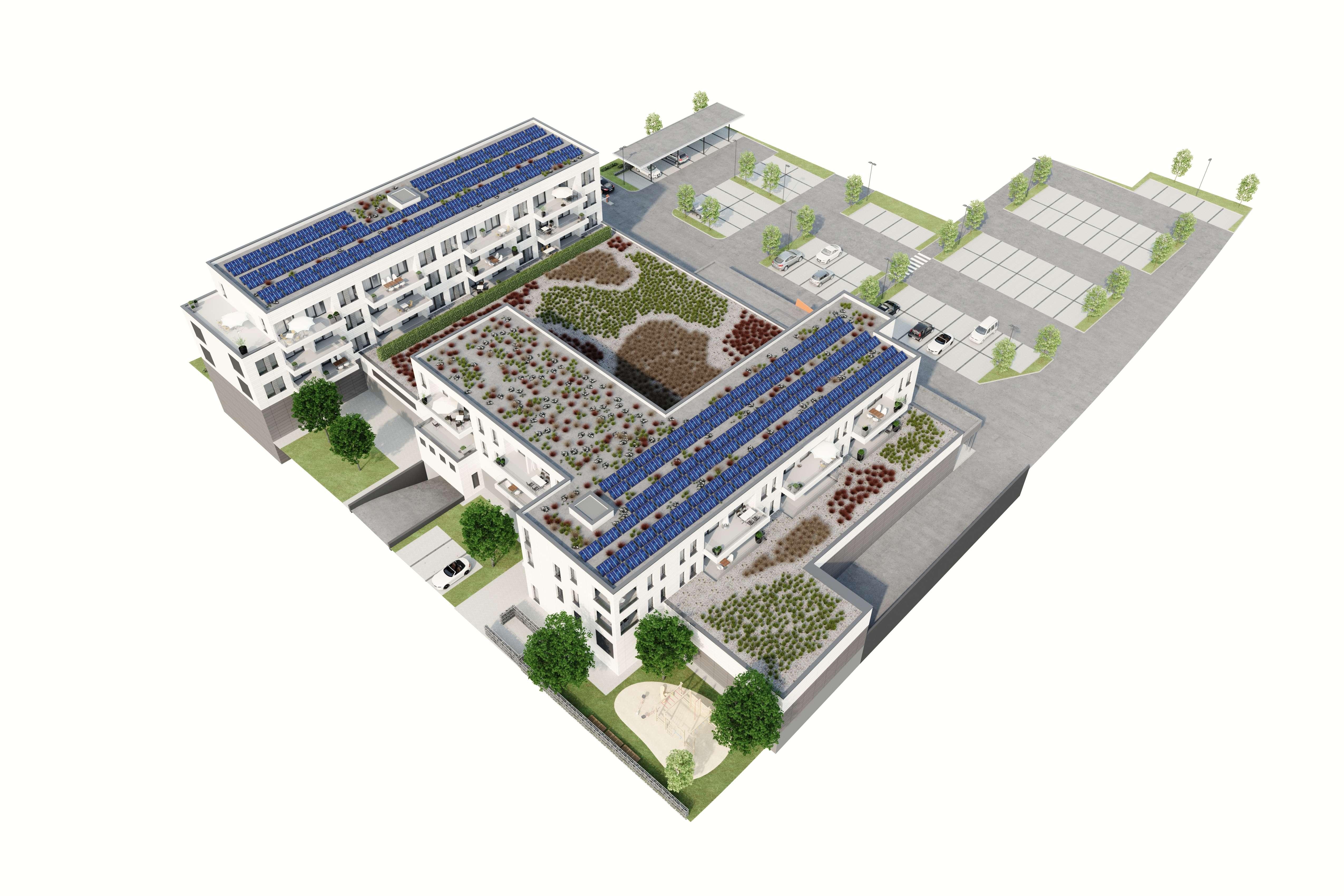 schicke Neubauwohnung mit moderner Einbauküche in