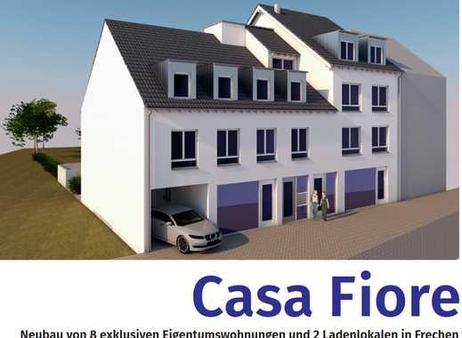 Neubau von 8 exklusiven Eigentumswohnungen und 2 Ladenlokalen in Frechen
